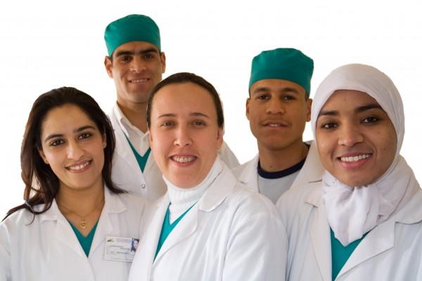 Elèves infirmiers et aide soignants au Maroc