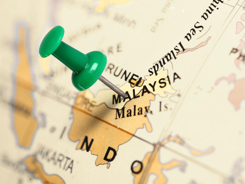 Cartes de la Malaisie avec une épingle