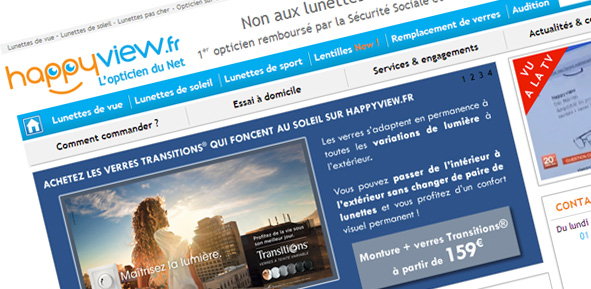 L'opticiene en ligne Happyview.fr