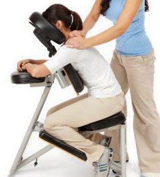 massage sur chaise ergonomique
