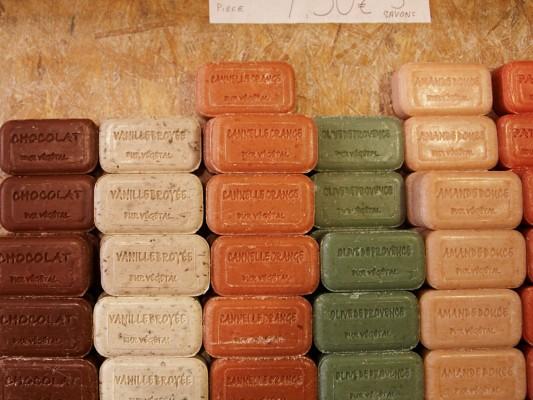 Savons de Marseille, parfums gourmands