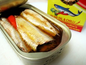 Boite de sardines, ouverte