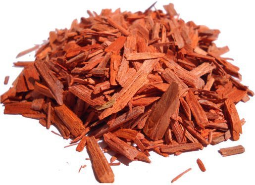 Copeaux de bois de santal rouge