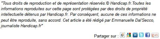 Extrait du site de handicap.fr