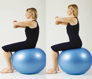 Femme faisant des exercices de positionnement du bassin