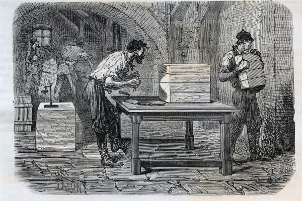 Coupage des pains de savon de Marseille au fil