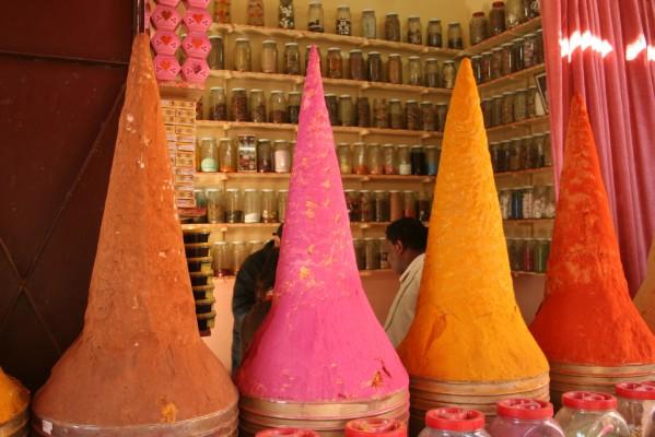 Boutique d'herboriste à Marrakech