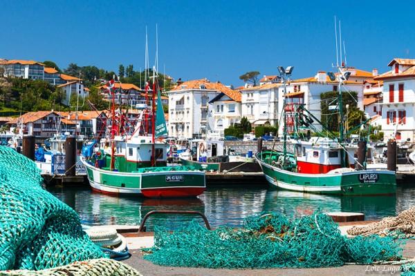 Photo des barques de Saint Jean De Luz