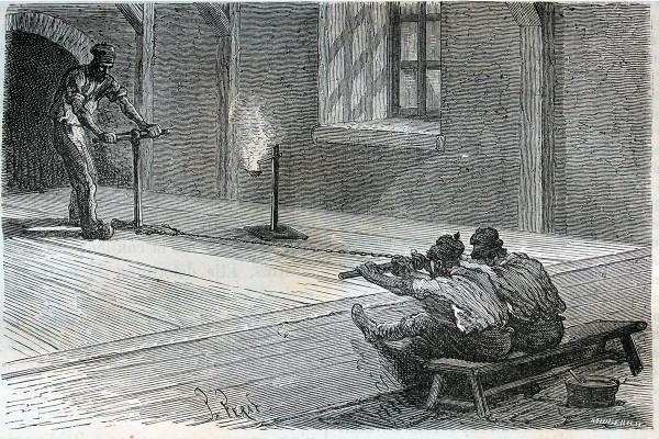La première coupe des savons - gravure ancienne