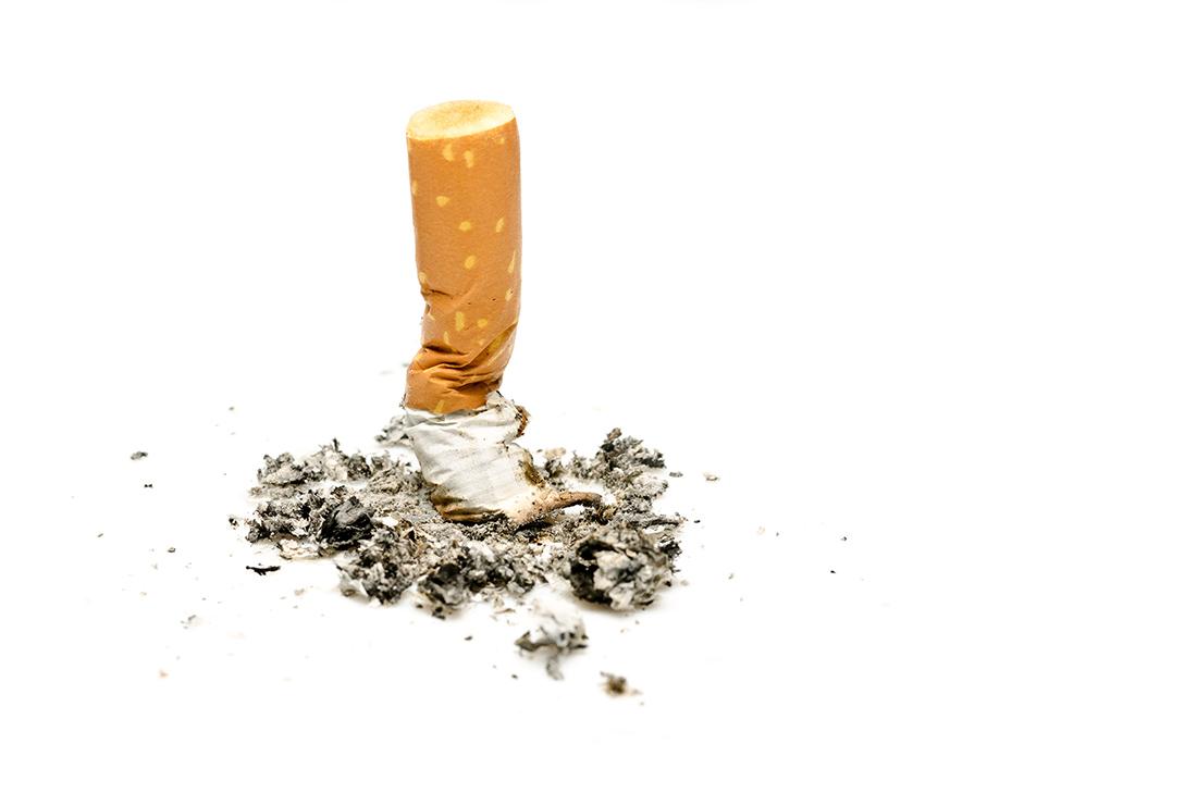 Cigarette écrasée